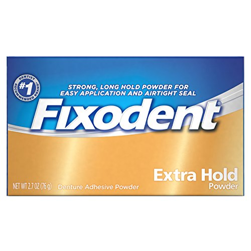 Fixodent Extra Hold Denture Adhesive Powder, 2.7 Ounce