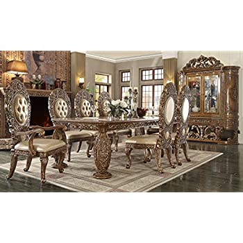 Inland Empire Furniture Enzo 9 Piece Formal Dining Room Set With Intricate Carvings