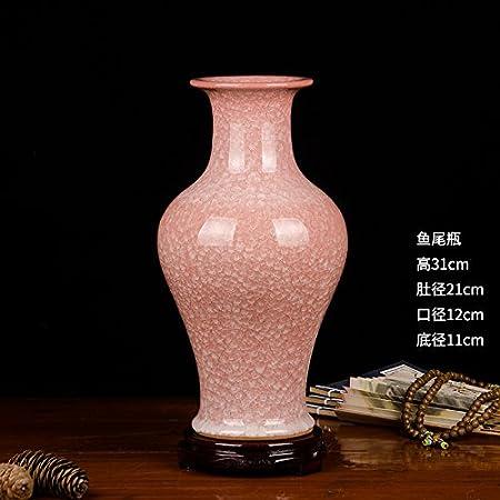 Modern Chinese Antique Vases Crack Glaze Ceramic Handicrafts Six