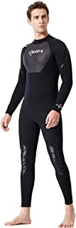 GYFY Coppia Tuta Subacquea 3MM Siamese Snorkeling Surf Abbigliamento Donna Spessa Caldo Quattro Stagioni Costume da Bagno Lungo Manica Medusa Abbigliamento SCR Costumi da Bagno,XL