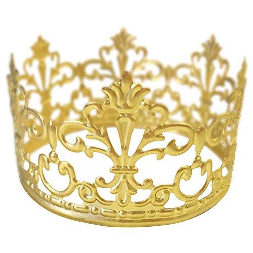 BESTONZON Tiara Crown/Gold Cake Crown Topper Crown Hair Ornaments Wedding Supplies Accessories ()