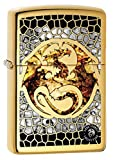 Zippo Lighter: Anne Stokes Dragon, Fusion - High Polish Brass