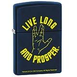 Zippo Lighter - Star Trek Live Long and Prosper Navy Matte