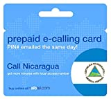 Prepaid Phone Card - Cheap International E-Calling Card $10 for Nicaragua with same day emailed PIN, no postage necessary