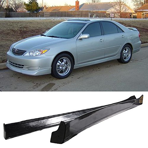 (Side Skirts Fits 2002-2003 Toyota Camry | VIP Style PU Black Side Bottom Line Extension by IKON MOTORSPORTS)