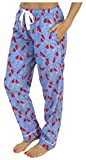 PajamaMania Women's Sleepwear Flannel Pajama PJ Pants, Cardinals (PMF1001-2032-XL)