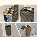 SHIJIE1701AA-Cubo-de-Basura-para-la-Cocina-Bano-de-ratan-de-imitacion-de-bambu-Creativo-Hotel-vestibulo-del-Hotel-Ascensor-Vertical-con-cenicero-Preciosa-Papelera-Color-Brown