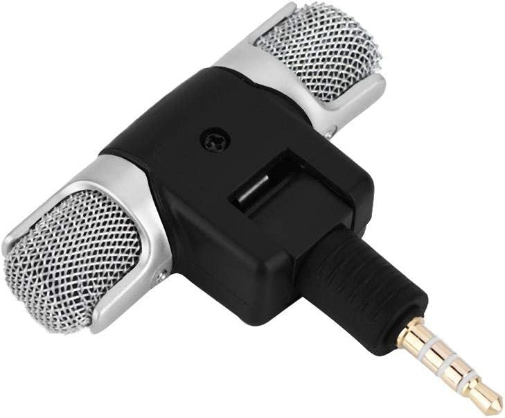 Zerone Mini Stereo Microphone Mic Portable 3.5mm Gold-Plating Plug Jack MD/DAT for Andriod Phones iPhones