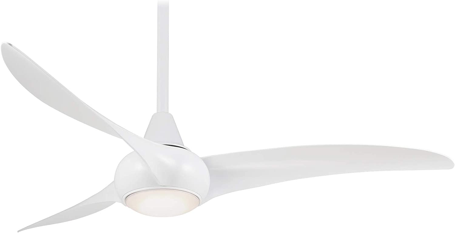 Minka-Aire F844-WHF, Light Wave, 52 Ceiling Fan with LED Light Kit, Flat White