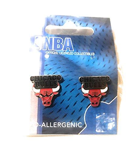 Chicago Earring Bulls - NBA Chicago Bulls Team Post Earrings