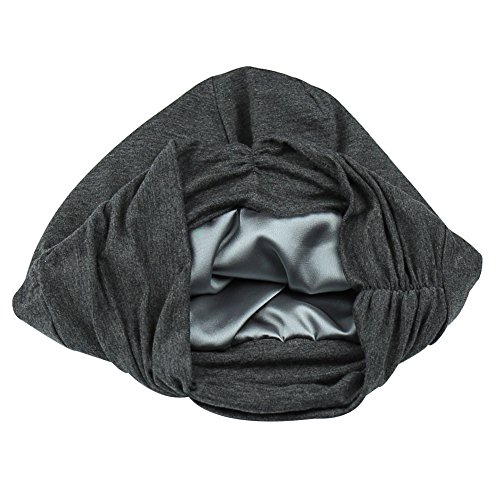 Silky Satin Slouchy Cap Soft Sleep Headwear Night Public Curly Hair Headcover Frizzy Beanie