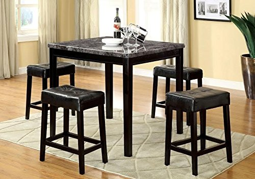Counter Height Table and 4-Bar Stools by Furniture of America