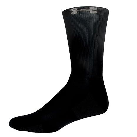 4-prs. de tripulación calcetines - UA 3943-BLK, Negro