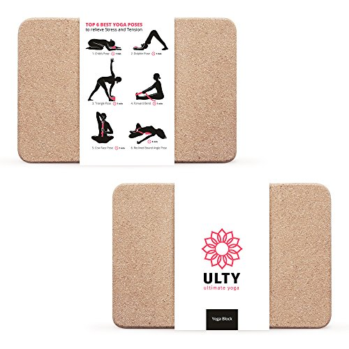 "Cork Yoga Block 9""x6""x4"" 