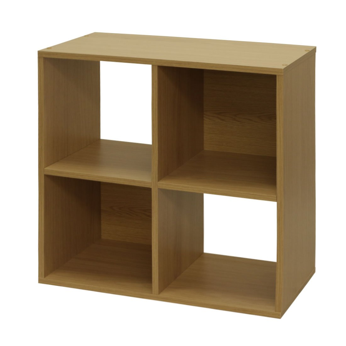 Devoted2Home Boldon 4-Shelf Unit Storage Furniture, Wood, White, 29.5 x 61 x 61.2 cm AA511315SOH