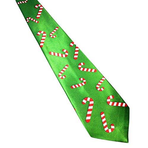 Santa Necktie (Christmas Santa Tie, SUKEQ Tree Reindeer Print Floral Tie Funny Festival Necktie Xmas Gift for Party (B))