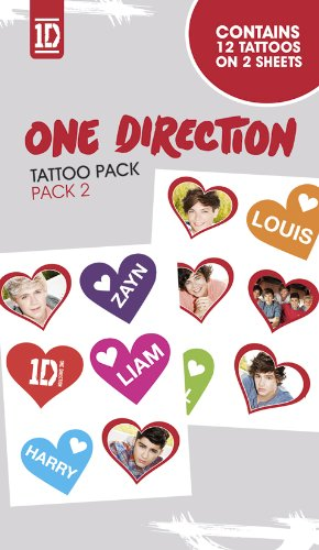 Official One Direction (1D) Temporary Tattoos - Pack 2