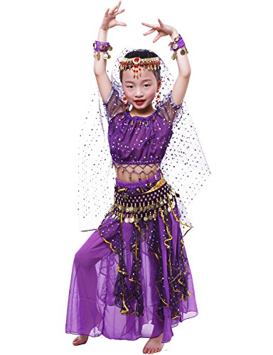 Astage GilrsGirls Belly Dance Carnival Dancing Dress Purple S ()