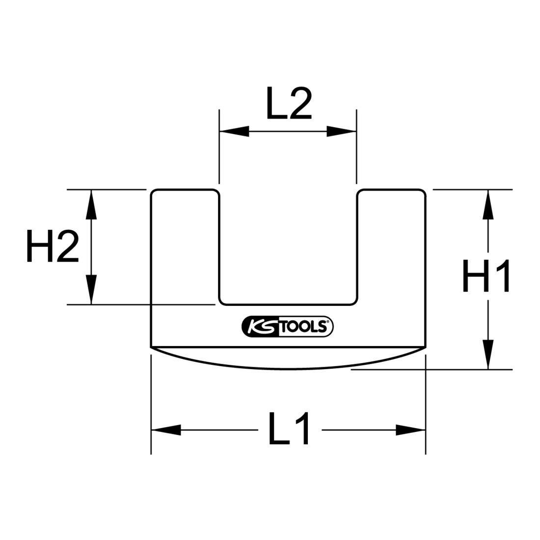 KS Tools 140.2077 Gummiaufsatz f/ür F/äustel 72x44mm