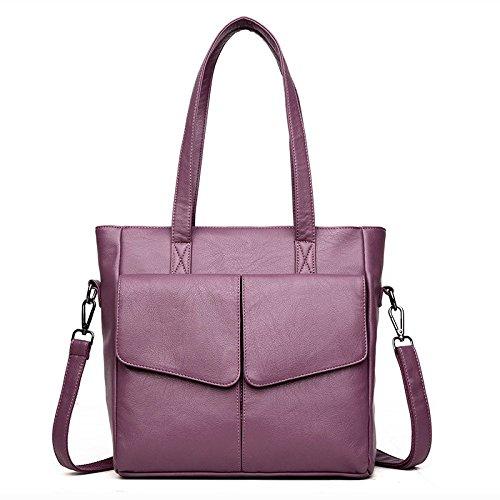 à PU BAILIANG Et Purple Mode L'hiver Main Womens Sac Bandoulière Automne Sac Crossbody Modèles à HqaBw