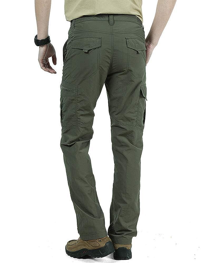 IDEALSANXUN Mens Casual Quick Dry Outdoor Lightweight Cargo Pant