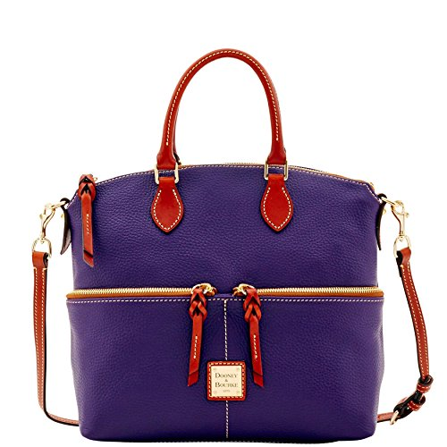 Dooney & Bourke Pebble Grain Double Pocket Satchel