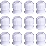 Shappy Plastic Standard Couplers Cake Decorating Coupler Pipe Tip Coupler for Icing Nozzles, White (12 Pack)