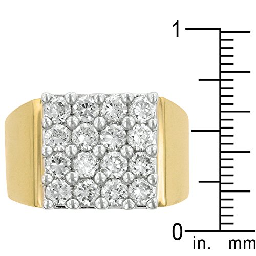 J Goodin Fashion Jewelry Pave Square Mens Ring Size 11 from JGOODIN