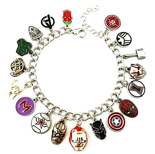 Superhero Bracelet Jewelry - Deadpool, Panther, Spiderman Bracelet Merchandise -