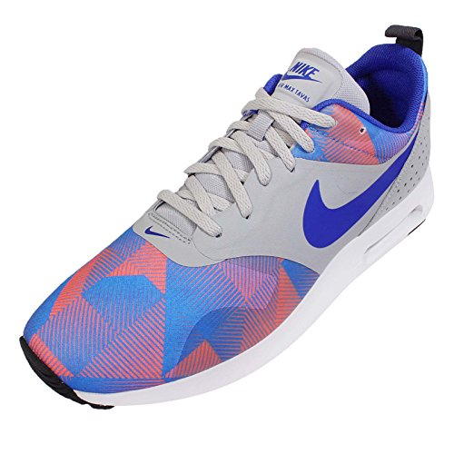 Nike Air Max Tavas Stampare Pattini Correnti Del Mens Grigio / Blu / Arancio
