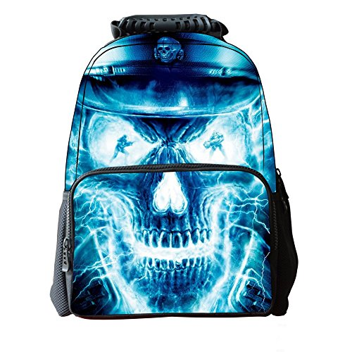 Skymoon Children's 3D Animal School Backpacks (16 Inch,Skull) by Skymoon