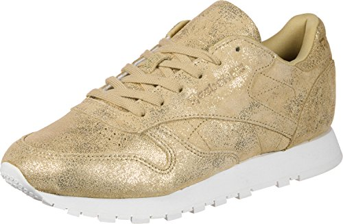 Reebok Classic Leather Shimmer, Baskets Femme, Gris, 36 EU Or