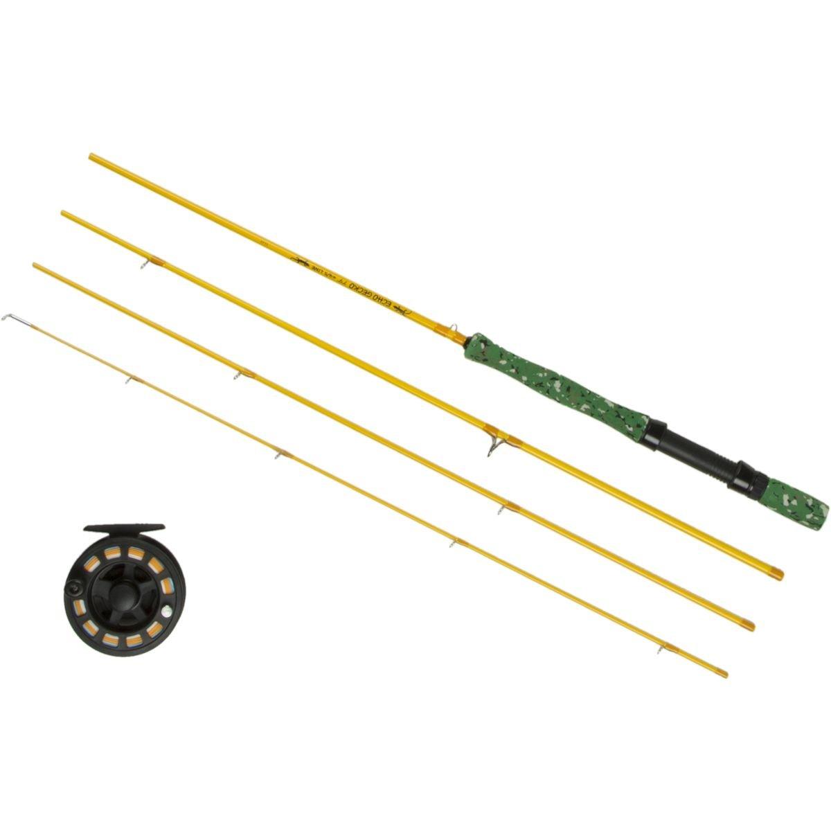エコーFly FishingフライロッドGecko Outfitキットwithロッドリールとケース 7ft9in 4/5 Weight/Handle A B01CR3H6RM