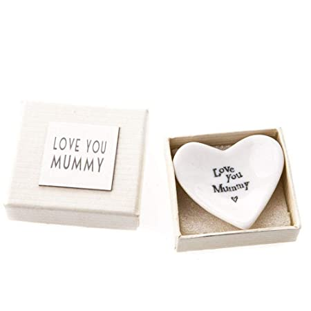 East Of India Porcelain Heart Dish With Gift Box Weddinggift Love
