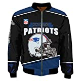 K3K Super Bowl Champions Jackets Mens Autumn Winter Outdoor Sports Big Size Outerwear Coats (X-Large, Philadelphia Eagles/)