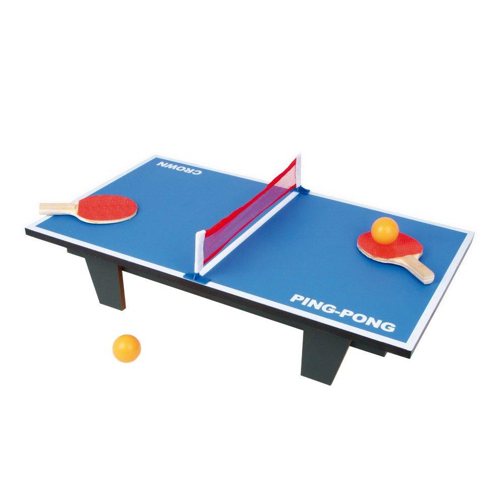 Tischtennis Ping Pong aus Holz, Gesellschaftsspiel auf jedem Tisch oder dem Fußboden spielbar, schult die Geschicklichkeit und Motorik, schnell und leicht aufzubauen, inkl. 2 Bällen, ab 5 Jahren inkl. 2 Bällen Small Foot Company 2019743