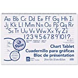 Pacon PAC74720BN Chart Tablet, Manuscript Cover, 1-1/2'' Ruled, 24'' x 16'', 25 Sheets, Pack of 6