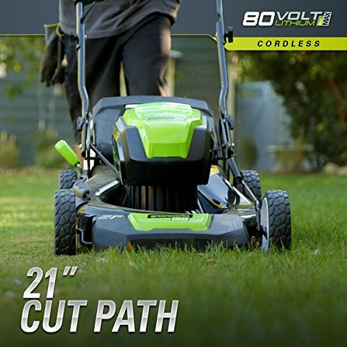 Greenworks PRO 21-Inch 80V Cordless Lawn Mower, Battery Not Included GLM801600