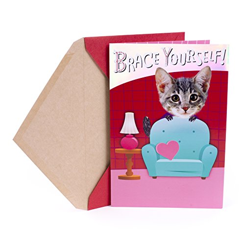 Hallmark Valentine's Day Greeting Card (Leaping Cat)