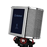 Alctron Studio Microphone Acoustic Panel Soundproof Filter Foam Shield Soundproofing PF8PRO,Vocal Desktop Desk Recording- Stand Mount,portable recording studio in anywhere