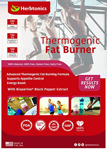 Thermogenic Fat Burner Weight Loss Supplement for Men and Woman- 120 Veggie Pills- Endurance and Strength with Garcinia Cambogia, Green Coffee Bean Extract, Forskohlii For EXTREME fatloss!