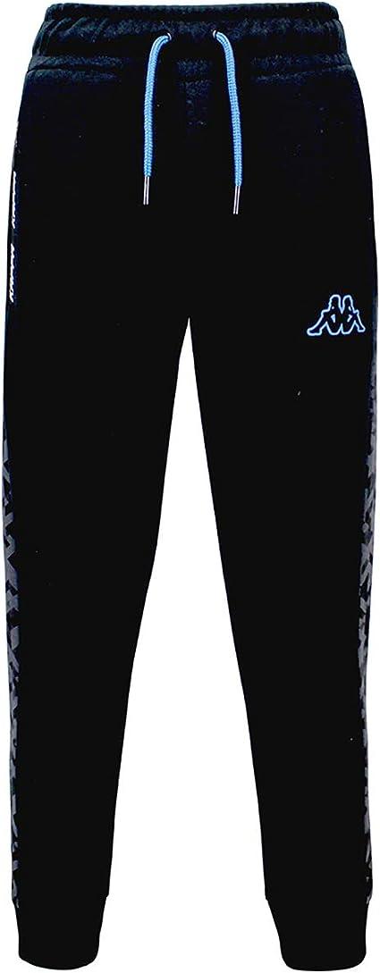 Kappa Pantalón Chándal Niño Keny. 31124QW Black/Blue. Talla 6 años ...