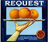 La Verne Lordsburg Request Orange Citrus Fruit Crate Box Label Art Print