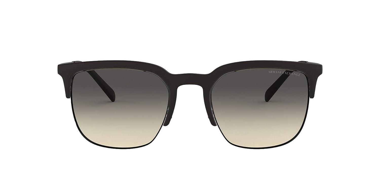 35288c4b3 Amazon.com: Armani Exchange Men's 0ax4081s Round Sunglasses matte black  54.0 mm: Clothing