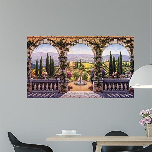 Wallmonkeys Tuscan Villa Wall Mural by John Zaccheo (48 in W x 28 in H) WM65264