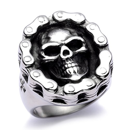Stainless Steel Skull Polished Silver