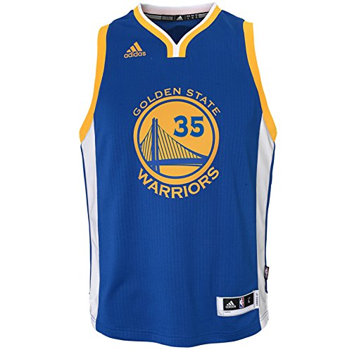 Outerstuff NBA Golden State Warriors Kevin Durant Boys Player Swingman Road Jersey, Large (14-16), Blue