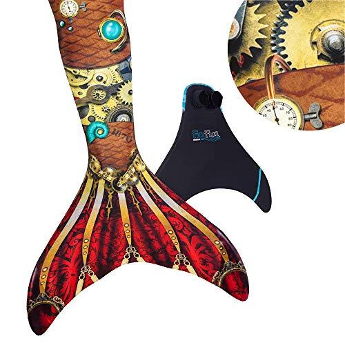 Fin Fun Mermaid Tail, Reinforced Tips, Monofin, Iron Mermaiden, Child 12