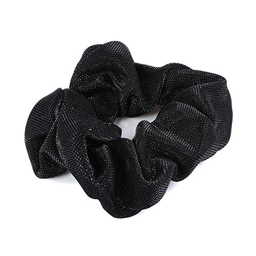 2pcs Women Girls Elastic Hair Band Ponytail Holders Rubber Bands Hair Rope Tie (Colors - Black)