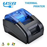 Scangle 58MM USB POS Thermal Printer - Thermal Receipt Printer, Printing Speed:90mm/Sec, Compatible With ESC/POS Commands Set (58mm Thermal Receipt Printer without Auto-cutter)